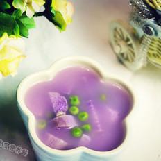 紫山药豌豆杂粮粥