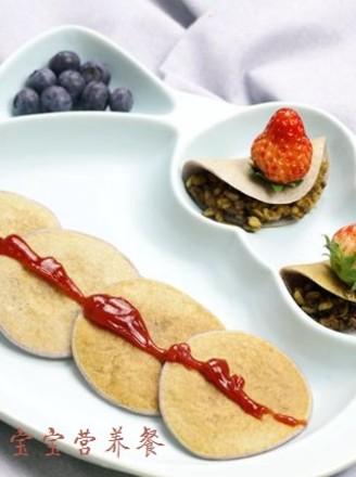 紫甘蓝松饼包饭的做法