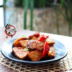 五花肉煎豆腐