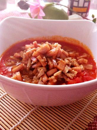 午餐肉番茄肉末羹