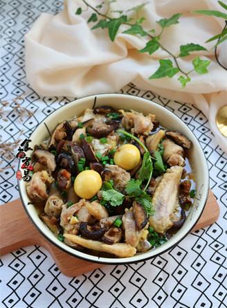 冬菇姜葱蒸滑鸡的做法