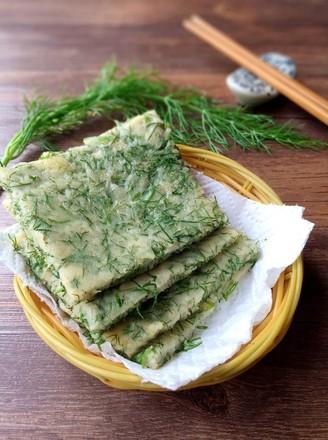 茴香菜饼的做法