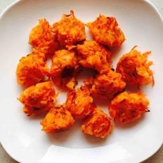 胡萝卜蒸菜 丸子