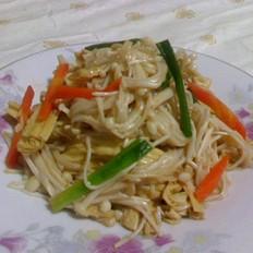 银针菇炒腐竹