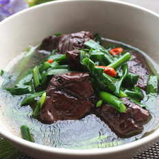 韭菜猪红汤的做法[图]