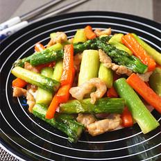 芦笋炒肉丝
