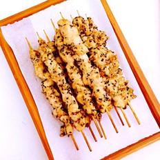 电烤香辣鸡肉串