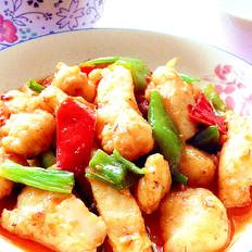 甜椒炒龙利鱼块