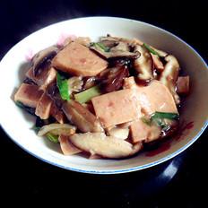 香菇烧午餐肉