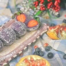 紫薯草莓球