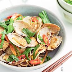 韭菜炒花蛤