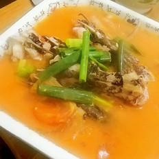 番茄煮黄鱼
