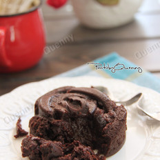 玫瑰熔岩蛋糕