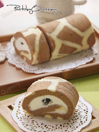 长颈鹿斑纹蛋糕卷