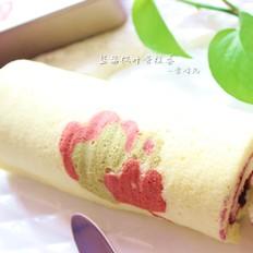 蓝莓枫叶蛋糕卷