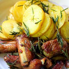 迷迭香煎土豆排骨