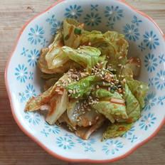 爽口小菜-韩式生菜沙拉5分钟搞定