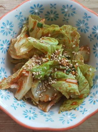 爽口小菜-韩式生菜沙拉5分钟搞定的做法