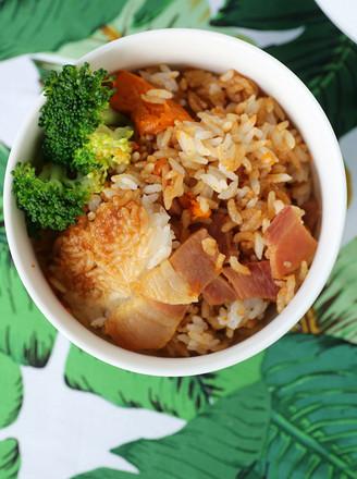 腊肉南瓜焖饭(电饭锅版煲仔饭)的做法