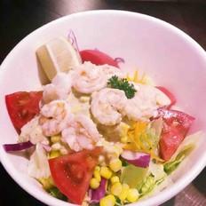 蔬菜水果油醋汁沙拉