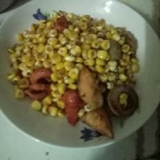 肉丸炒玉米