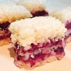 糯米紫薯椰蓉糕