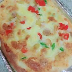 芝士虾仁披萨