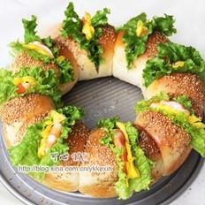 妃娟的中种醇奶之花环汉堡的做法[图]
