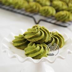 最爱那一抹绿---抹茶杏仁曲奇