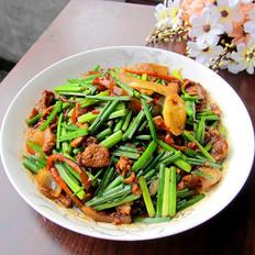 韭菜花炒肉的做法[图]