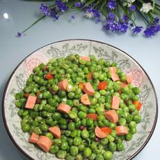 火腿肠焖豌豆