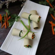 豆腐皮卷菜