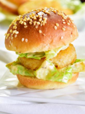 原味薯饼小汉堡的做法