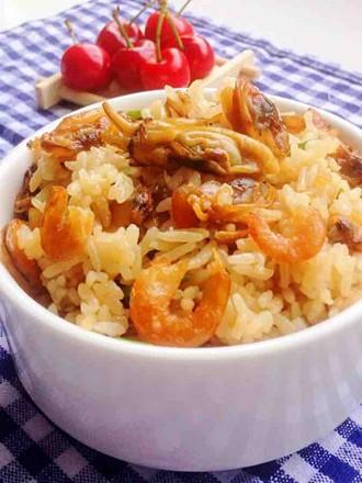 电饭锅版海鲜焖饭的做法