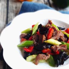 木耳芹菜炒羊肉