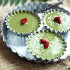绿豆抹茶布丁