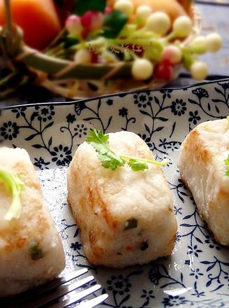 鱼茸虾米萝卜糕的做法