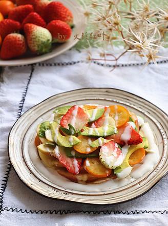 沙拉汁拌鲜果片的做法