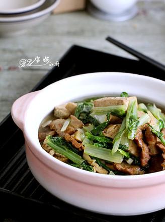 奶白菜炖豆腐的做法