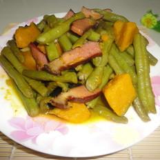 腊肉炖豆角南瓜