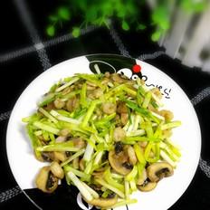 蒜黄口蘑青虾仁的做法[图]