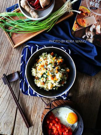 红薯菠菜糙米饭的做法