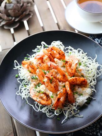 银丝芙蓉虾的做法