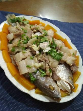 咸鱼蒸五花肉的做法