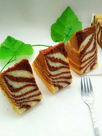 斑马纹戚风蛋糕8寸的做法