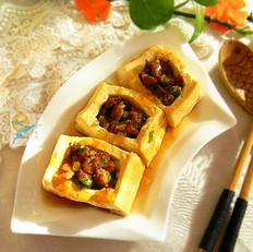 烤箱制作鲜香豆腐盒