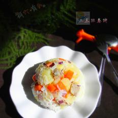 胡萝卜土豆火腿焖饭