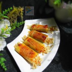 金针菇豆皮卷