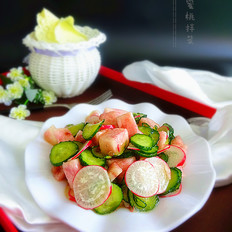 沙拉蜜桃拌菜
