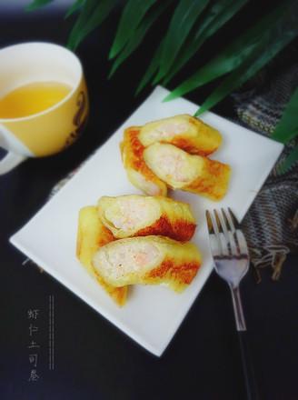 虾仁土司卷的做法